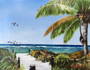"Private Collection Of: Mike & Georgia Ribler ""Access To The Beach"" #137216 $95 8x10"