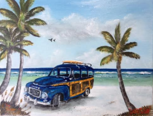 "Private Collection Of: John Sollazzo aka Siesta John Siesta Key, Florida ""My Volvo Woody"" #137316 - $80 8x10"
