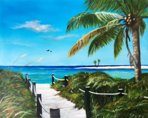 "Private Collection Of: Justin & Lindsey Leins Sarasota, Florida ""Beach Access"" #137916 $250 16x20"