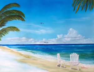 "Private Collection Of: Lee Hoffman Pittsburgh, Pa ""Relaxing At The Beach"" #138016 $250 16x20"