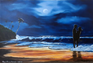 "Private Collection Of: Terry & Colleen Romanzo Sarasota, Florida ""Paradise In The Moonlight"" #138116 - $495 24x36"
