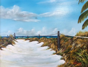 "Private Collection Of: Kevin Farewell Siesta Key, Florida ""To The Beach"" #138216 $250 16x20"