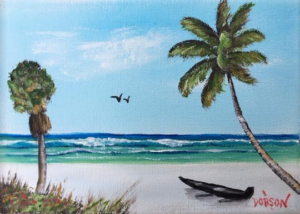 "Private Collection Of: Jim & Karen Arruda Lakenona, Florida ""Siesta Key Canoe"" #138716 $60 5x7"
