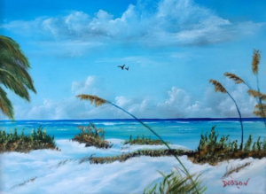 "Private Collection Of: Georgene & Charles Smith Columbus, Ohio ""Sea Grass On The Key"" #139716 $130 11x14"
