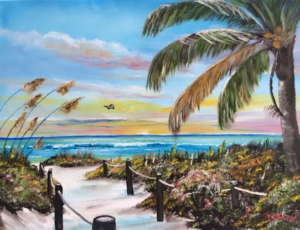 "Private Collection Of: Patti Reischl Plymouth, Wisconsin ""Paradise"" #140416 $250 18x24"