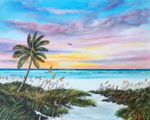 "Private Collection Of: Ryan & Teri Schroeder Mosinee, Wisconsin ""Siesta Key Paradise Sunset"" #141116 - $490 24x30"