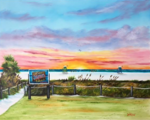 "Private Collection Of: Jamie & Tim Boggs Trenton, Michigan ""Sunset At Siesta Key Public Beach"" #141216 $390 24""h x 30""w"