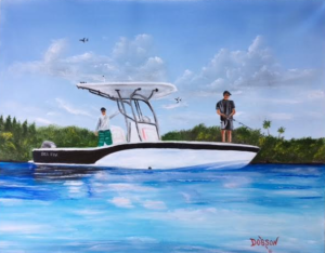 "Private Collection Of: GT Marine Sarasota, Florida ""Sea Fox"" #143116 $250 16x20"