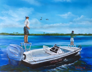 "Private Collection Of: GT Marine Sarasota, Florida ""Sterling Boat"" #143216 $250 16x20"