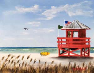 "Private Collection Of: Jeann Tong Sturgeon Bay, Wisconsin ""Red SK Lifeguard Stand"" #144016 - $95 8x10"