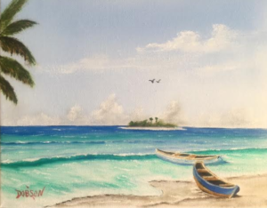 "Private Collection Of: Horast & JoAnn Pachan Siesta Key, Florida """"Boats Beached"" 8x10 - $95"