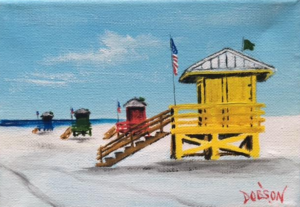 "Private Collection Of: Chuck Monster, Indiana ""Yellow Lifeguard Stand"" #144816 $ 40 5x7"