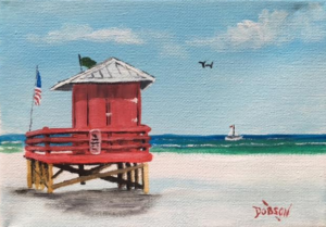 "Private Collection Of: Bettie Leonard Virginia Beach, Va ""Red Lifeguard"" #145016 $60 5x7"