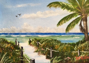"Private Collection Of: Ruthi Dolovy Poland, Ohio ""Siesta Key"" #145116 $60 5""x7"""