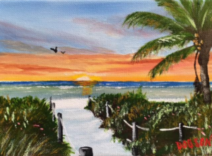 "Private Collection Of: Ruthi Dolovy Poland, Ohio #145216 $60 ""Beach Access"" 5""x7"""