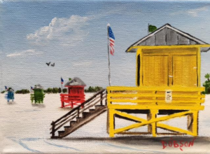 "Private Collection Of: Sidney Vanderhoos Leroy, New York ""Yellow Lifeguard"" #145316 $60 5x7"