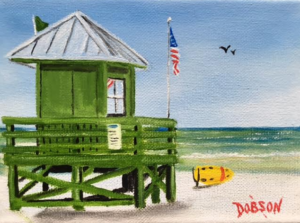"Private Collection Of: Megan Hogan ""Green Lifeguard Stand"" #145416 - $60 5x7"