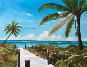 "Private Collection Of: Melissa & Rick Dodek Lower Burrell, Pa ""Beach Access"" $490 26""h x 34""w"