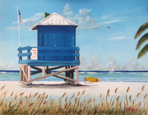 "Private Collection Of: Johnna & Matt Perdue Blue Springs, Missouri ""Lifeguard Stand On Siesta Key"" #145616 $250 16x20"