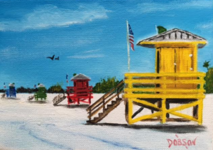 "Private Collection Of: John & Ginger Walsh New York, New York ""Yellow Lifeguard"" #146116 - $60 5x7"