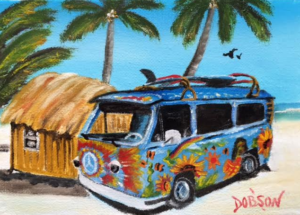 "Private Collection Of: Kim & Rob Trzezwski Lakewood Ranch, Florida ""Hippy VW Van"" #146216 - $60 5x7"