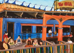 "Private Collection Of: The Hub Baja Grill Siesta Key, Florida ""The Hub Baja Grill On Siesta Key"" #147216 $390 18x24"