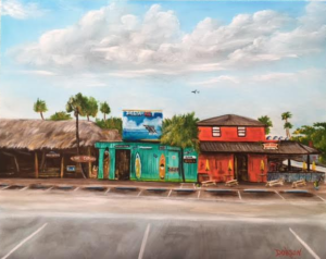 "Private Collection Of: Bill & Marilyn Bersbach Kokomo, Indiana ""The Hub & The Cottage Siesta Key"" #148817 $250 16""h x 20""w"