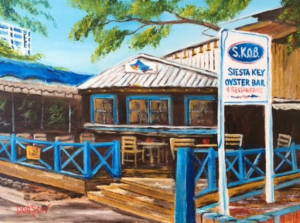 "Private Collection Of: Jeff Houck Siesta Key, Florida ""S.K.O.B. On Siesta Key"" #148917 - $130 9""x12"""