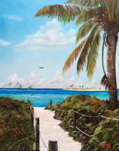 "Private Collection Of: Sheree & Barry Witt Bradenton, Florida ""Siesta Beach Access"" #149117 - $490 24""w x 30""h"