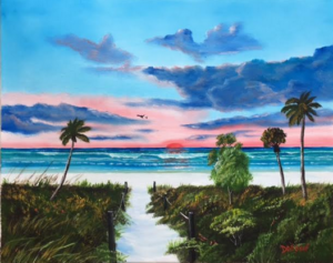 "Private Collection Of: Brittany & Steven Hopper Wentzville, Missouri ""Siesta Key At Sunset"" #149317 - $250 16x20"