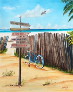 "Private Collection Of: Sheree & Barry Witt Bradenton, Florida ""My Favorite Beaches"" #149617 $490 24""w x 30""h"