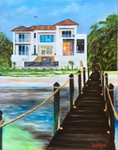"Private Collection Of: Pam & Drew Trapoli Siesta Key, Florida ""Pam & Drew's Crib"" #149917 $250 16x20"