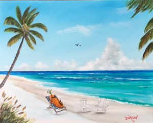 "Private Collection Of: Deena Ravella & Fred Larson Sarasota, Florida ""Carrot On Sunday Funday"" #150017 - $250 16x20"