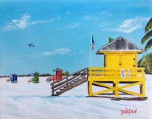 "Private Collection Of: Karla Kwapio Watertown, Wisconsin ""Yellow Lifeguard Staned"" #152817 $95 8x10"