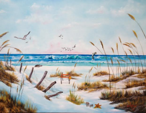 "Private Collection Of: Mr David Turner - Lexington, Kentucky #16814 - - ""Sea Oats"" - 30x40"