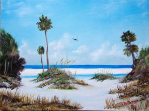 "Private Collection Of: Damian & Rachelle Lang Waterford, Ohio ""Siesta Key Fun"" #17914 $250 16x20"