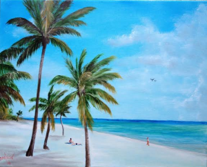 "Private Collection Of: Bryan & Kay Davis Sarasota, Florida ""Beach Life"" #18414 - $250 16x20"