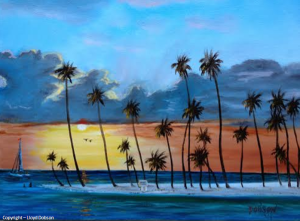 "Private Collection Of: Stacie & Charles Mullins Sarasota, Florida #19114 - ""Island Sunset"" $250 - 16x20"
