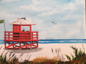 "Private Collection Of: Yvonne & Nick Hetman Owensboro, Kentucky ""Red Lifeguard Stand"" #157917 $95 8x10"