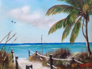 "Private Collection Of: Joy & Mark Sherry Meadville, Pa ""Siesta Beach Access"" #115614 BUY $75 8x10"