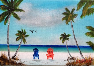 "Private Collection Of: Vivian Tamez - Sarasota, Florida ""Living The Dream In Paradise"" #117314 5x7 Miniature $35"