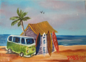 "Private Collection Of: Valerie Palmer-Hall Overland Park, Kansas ""Surf Shack"" #117614 $35 5x7 -"