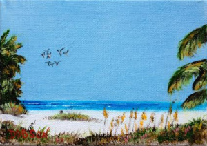 Siesta Beach #122415 BUY $40.00 5x7 - FREE Shipping Lower US 48 & Canada