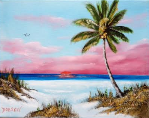 Private Collection Of: Susan Popp Nightdale, North Carolina Red Sunset On The Key #123615 - $75 8x10