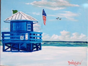 "Private Collection Of: Rachel Davis Johnson City, Tenn. ""Blue SK Life Guard Shack"" #131715 - $75 8x10"