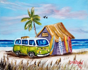 "Private Collection Of: Matt Nooney & Marisa Cochran Bradenton, Florida ""My Green VW Van"" #132115 - $75 8x10"