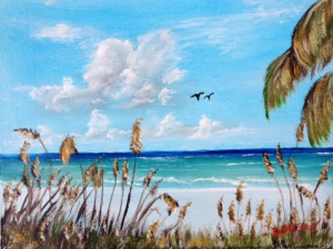 """""""Sea Oats On The Key"""" #132515 BUY $75 8x10 - Free Shipping Lower US 48 & Canada"""