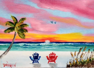 """""""Relax On The Key"""" #136116 BUY $40 5x7 - Free Shipping Lower US 48 & Canada"""