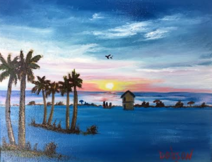"""""""Evening In Paradise"""" #136916 BUY $95 8x10 - Free Shipping Lower US 48 & Canada"""