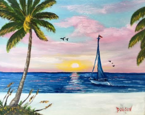 """""""Sailing At Sunset"""" #137016 BUY $95 8x10 - Free Shipping Lower US 48 & Canada"""